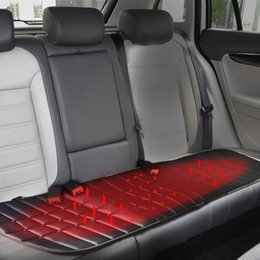 Wholesale Universal Heater - Universal 12V Car Back Heated Seat Cushion for Cold Heated Seat Cover Heating Heater Pad Winter Seat Cover Auto Cover Car-covers