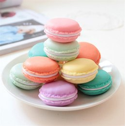 Wholesale Macaron Storage Boxes - Candy Color Macaron Mini Cosmetic Jewelry Storage Box Jewelry Box Pill Case Birthday Gift Display Macaron Jewelry Case