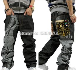 Wholesale Discount Coats For Men - Wholesale-American brand discount 30-44 loose pants baggy jeans for men jeans men hiphop rapper style plus size men jeans free shippingmen