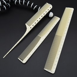 Wholesale Measuring Oil - Professional Hairdressing Cut Comb 3 pcs For Barber Unbreakable Hair Cutting Comb With Laser Measure Scale Hair Comb Set