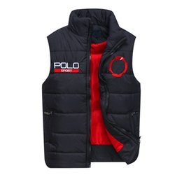 Wholesale Hooded Vest Xl - Free send Men PoLo cotton wool collar hooded down vests sleeveless jackets plus size quilted vests Men PAUL vests outerwear,S-XXL