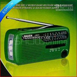 Wholesale Degen Solar - High Quality FM Radio DEGEN DE13 FM MW SW Crank Dynamo Solar Emergency Radio World Receiver A0798A