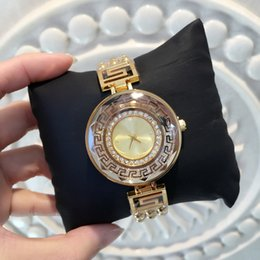 Wholesale Diamond Big - 2017 Fashion Women Watch With Diamond Big Dial Blue Special Design New Model Lady Wristwatch Steel Gold Color free shipping with box