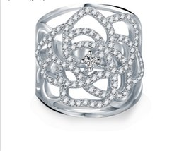 Wholesale Victorian Silver Rings - Womens Celtic Rings Pure S925 Sterling Silver Color Cubic Zirconia Victorian style