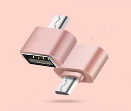 Unidades flash samsung online-Mini Micro USB Adaptador OTG Adaptador Para Samsung LG HTC XiaoMi Lenovo Huawei Meizu Tableta Ratón Teclado Flash drives Disco