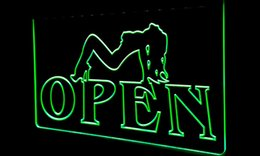 Wholesale Sexy Neon Signs - LS177-b OPEN Sexy Sex GirLS Pub Bar Club Neon Light Sign Decor Free Shipping Dropshipping Wholesale 6 colors to choose