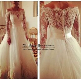 Wholesale Scalloped Ivory Veil - Real photo very Sexy Backless flowers romantic A Line Wedding Dresses vestidos de noiva robe de mariage get a free veil