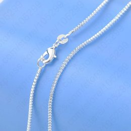 Wholesale 925sterling Silver - Hot ! Free Shipping Top Quality Genuine 925Sterling Silver Box Venice Necklace Chains With Lobster Clasps