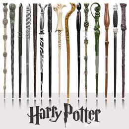 Wholesale harry potter dumbledore wand - harry potter Magical Wand dumbledore Hogwarts wand cosplay wands Hermione Voldemort Magic Wand In Gift Box 36cm 18 design OTH057