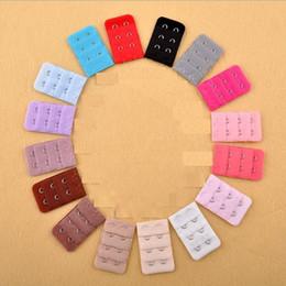2019 extensions multi-couleurs Extensions de soutien-gorge 1000pcs Dames 2 crochets Attache pour crochet d'extension de sangle parfaite Nude CEINTURE RÉGLABLE boucle multicolore disponible J115 promotion extensions multi-couleurs