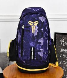 Wholesale Black Outdoor Backpack - 2017 Fashion KOBE bag Men Backpacks Basketball Bag Sport Backpack School Bag For Teenager Outdoor Backpack Marque Mochila