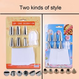 Wholesale Russian Suit - Wholesale- 6 pcs suit Sphere Ball Shape Cream Stainless Steel Russian Icing Piping Nozzle Pastry Cupcake Tips Bicos De Confeitar