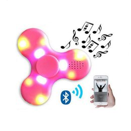 Wholesale Wholesale Prices For Adult Toys - Factory Price Portable Wireless Bluetooth Speaker Fidget Hand Spinner With LED LIGHT Toy For Kids and Adult decompression