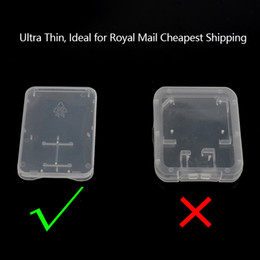Wholesale Mail Plastic Boxes - Ultra Thin Plastic TF Card Case SD Card Case 2 in 1 Memory Card Storage Box Case Best Solution for Royal Mail Cheapest Shipping
