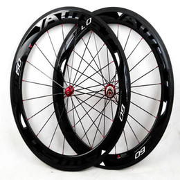 Wholesale Wheels Set 18 - Hot selling AWST 60mm carbon wheels balck color with 3k glossy road carbon wheelset racing bike carbon fiber wheels made in china