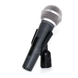 Argentina SM 58 58S 58SK Interruptor SM58LC Karaoke Mic Cardioid Vocal Micrófono con cable dinámico Microfone Fio Microfono Mano Bobina móvil Mike Mixer Suministro