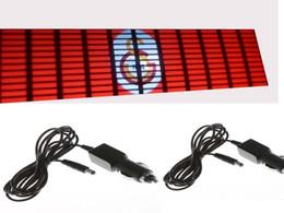 Argentina 70 * 16 cm colores rojos luz hasta la luz El Panel Car EL menor pegatina accesorios EL ecualizador DC12v inversor con cigarrillo Suministro