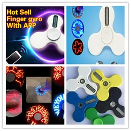 Wholesale Fingertips Music - APP fidget spinner LED pattern handspinner USB charging fidget spinners EDC triangle fingertips gyro anxiety decompression toy new arrival