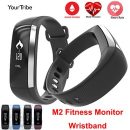 Wholesale Android M2 - Wholesale- M2 Smart Band Blood Pressure Wrist Watch Pulse Meter Monitor Cardiaco Fitness Tracker Smartband Call SMS iOS Android Bracelet Mi