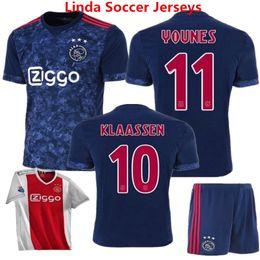 Wholesale Netherlands Away - 2018 Ajax Soccer Jersey Ajax Away Black Maillot de foot Klaassen MILIK SCHONE Football Shirts Bazoea Black Netherlands camisetas de futbol