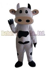 Wholesale Cheap Custom Costumes - Cows mascot costume EMS free shipping, cheap high quality carnival party Fancy plush walking milk cow mascot adult size.