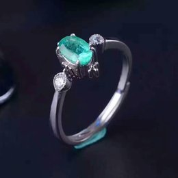 best valentines day gifts Coupons - Classic emerald wedding ring for woman 0.5 ct natural emerald gemstone solid 925 silver emerald gemstone ring best valentine day gift