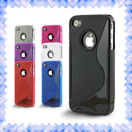 Wholesale Plastic S Clips - S Line Soft Silicone Gel TPU Transparent Shockproof Mobile Protective Case Cover for iPhone 5 5s 6 6s Plus S6 S7 Edge