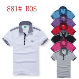 Wholesale popular boys clothing - New men clothes big yards hit color stitching Short sleeve men t shirt round neck big boy poloshirt slim popular t shirts for men.