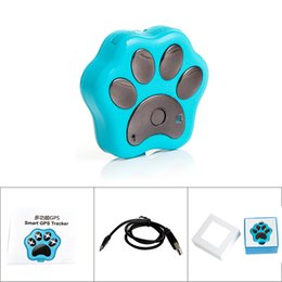 Wholesale Dog Gps Track - Mini Dog Paw Shape Real -time tracking Smart GPS Tracker Blue Black Gold for Optional ACA_129