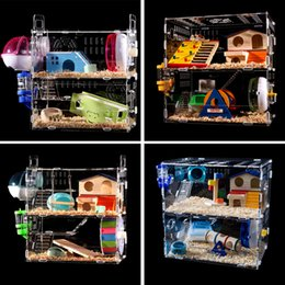Wholesale Large Animal Cages - Large Luxury Hamster Cage 1 2 3 Layers Small Pet Animal Pet Guinea Pig Portable Cute Carry Cages Nest for Hamsters Pets