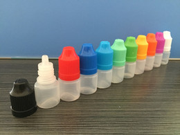 Wholesale Short Plastic Bottles - Soft Style Short Tips 5ml 10ml 15ml 20ml 30ml Plastic Dropper Bottle Child Proof Caps Dropper Bottle Empty E Liquid Oil Bottle