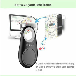 Wholesale Key Finders Wholesale - Micro Mini Smart Finder Smart Wireless Bluetooth 4.0 Tracer GPS Locator Tracking Tag Alarm Wallet Key Pet Dog Tracker with Retail box OM-CH3