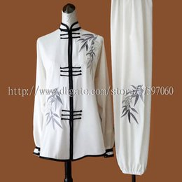 Wholesale Kids Kimonos - Chinese Tai chi clothes Kungfu uniform Taijiquan sword garment Qigong outfit embroidery kimono for women men girl boy children adults kids
