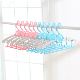 Wholesale Clothes Kid Hanger - wholesale Child package cloth hanger kids 'clothing hanger baby multicolour package cloth rack