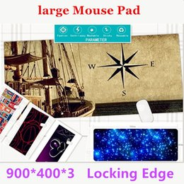 Wholesale Game Pad Tablet - Super Locking Edge large Game Mouse Pad 900*400*3and 600*450*3 high quality DIY pictures super big size computer game tablet mouse pad