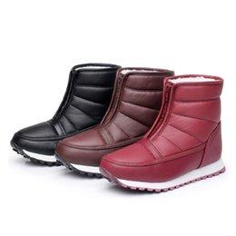 Wholesale Snowboots Men - Wholesale-2016 hot warm comfortable snowboots for men or women EUR35-45 color wine  burgundy black pu vamp