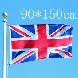 Wholesale British Decorations - 90cmx150cm United Kingdom National Flag Britain UK British England English Hanging Polyester Flags Festival Home Decoration
