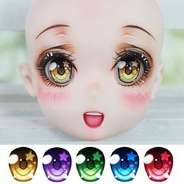 Wholesale Dd Accessories - Acrylic Toy Eyes SD BJD Doll Eyes SD DD 2D BJD 1 4 1 3 1 6 Baby Born Dolls Accessories Half Round Eyeball 14mm 16mm 18mm 20mm