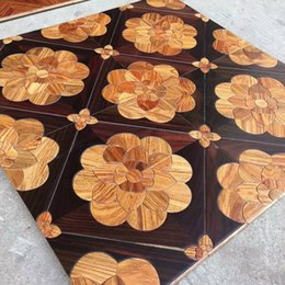 Cubrir azulejos online-Rosewood decal Furniture cover laminate floori macizo Russia tiles de madera maciza pisos de madera de madera parquet pisos de madera de nogal w