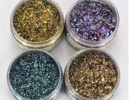 Wholesale Glitter Gel Manicure - Hot Sale! 1 box Chameleon Flakes Magic Effect Flakes Multi Chrome Nail Powder Glitter Sequins Nail Art Gel Nail Polish Manicure