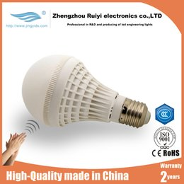 Wholesale Sensor Lighting Bedroom - cheap Factory price E27 1pcs sound activated led lights Automatic On Off Sensor LED Light Bulbs