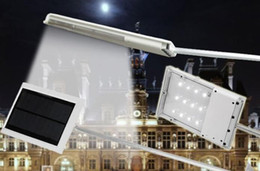 Wholesale Emergency Sensor Solar - DHL Waterproof 12 LED Solar Powered Sensor Lighting Ultra-thin Outdoor Path Wall Street Light Garden Lamp Emergency Lamp Solar Street Lights