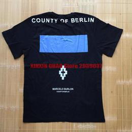 Wholesale Marcelo Burlon T Shirt - summer fashion brand clothing marcelo burlon county of berlin letter print men t-shirt cotton casual tee tops t shirt kanye west