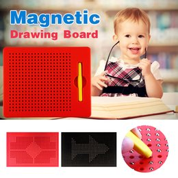 Wholesale Stylus For Writing - Magnetic Tablet Magnet Pad Drawing Board With Steel Bead Magnet Stylus Pen For Kids Learning Educational Writing Board Funny Toy