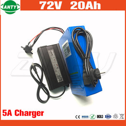 Wholesale E Bike Chargers - Electric Bicycle Battery 72v 20Ah 1500w Scooter Lithium Battery 72v with 84v 5A Charger 30A BMS e Bike Battery 72v Free Shipping