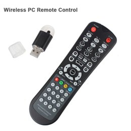 Wholesale Windows Xp Media Center Remote - Wholesale-USB Media IR Wireless Mouse Remote Control Controller USB Receiver For Loptop PC Computer Center Windows XP Vista Win7