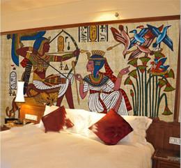 2019 papel antigo Murais egípcios antigos Sonho sala de estar quarto TV fundo papel de parede 3D Foto Personalizada mural papel de parede papel antigo barato