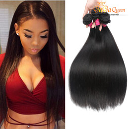 Wholesale Free Hair Products - Gaga Queen hair Hot Product Brazilian Hair Straight 4 Bundles High quality 100% Unprocessed human hair Weaves free shipping Dyeable NoTangle