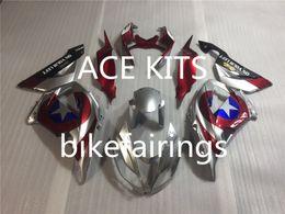 Wholesale Kawasaki Bike Fairing Zx6r - NEW TOP quality Injection Mold ABS bike Fairing For Kawasaki Ninja ZX6R 636 2013 2014 2015 cool Silver Red AA1