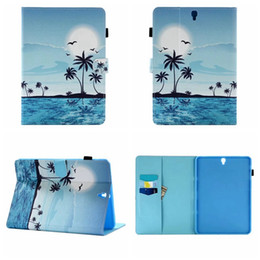 Wholesale Owl Tablet Cases - Sea Owl Eiffel Tower PU Leather For Galaxy tab S3 T820 Apple iPad Pro 9.7 2017 Fold Wallet Stand Holder Holster Pouch Case Tablet Skin Cover